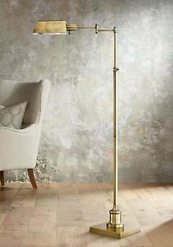 Jenson Aged Brass Pharmacy Floor Lamp