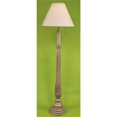 14 c30d glazed cottage traditional floor lamp