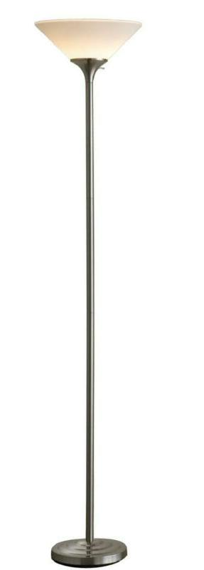 150 watt incandescent concord torchiere lamp brushed