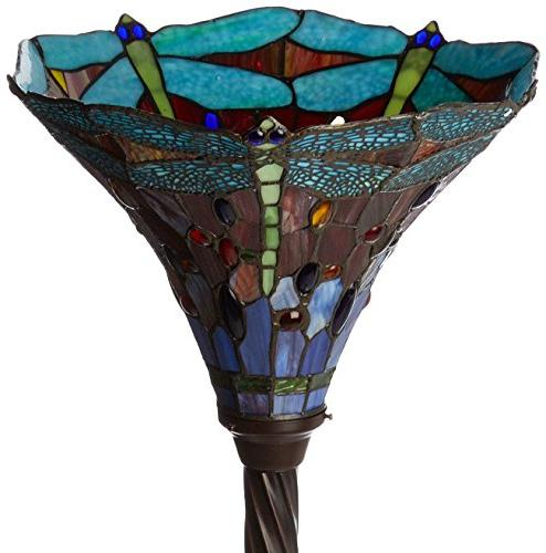 Warehouse of Dragonfly Tiffany-Style 72-Inch Lamp