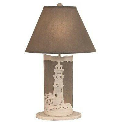 Coast Cottage Rope Lamp with Burlap Sta