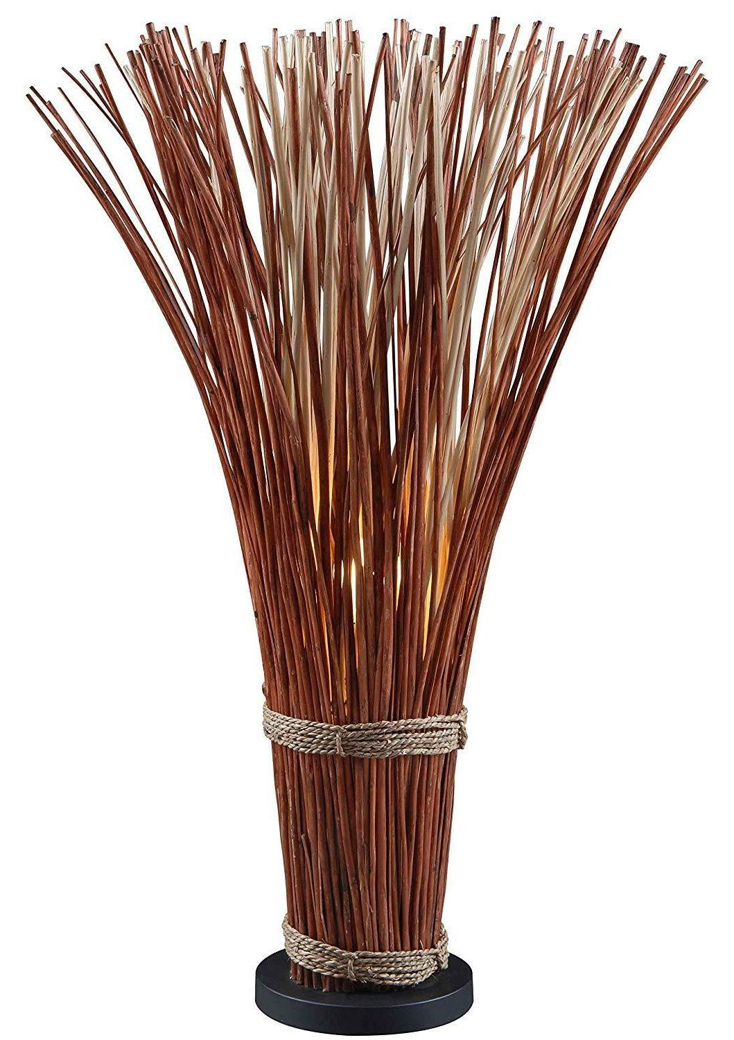 21065nr sheaf floor lamp natural reed