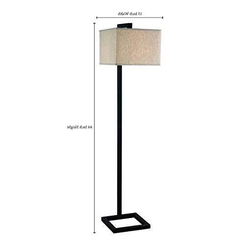 Kenroy Home Modern Floor Lamp, 64 Inch Height, Oil Rubbed Br