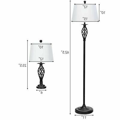 3-Piece Lamp 2 Table Lamp Shades Living Home