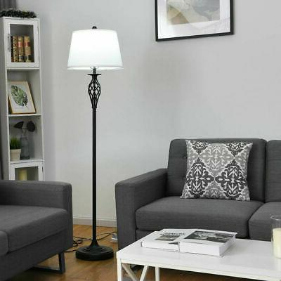 3-Piece Lamp Set Table Lamps 1 Floor Lamp Shades Living Room