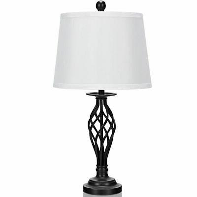 3-Piece Set Table 1 Floor Lamp Shades Living Room Home
