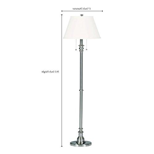 Steel Dual On/Off Pull Inch Height, Natural Linen Shade