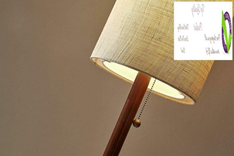 """Adesso Lamp Outlet 65"""", Walnut"""