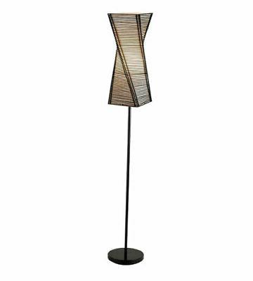 Adesso 4047 Floor Lamps Stix Lamps; Black