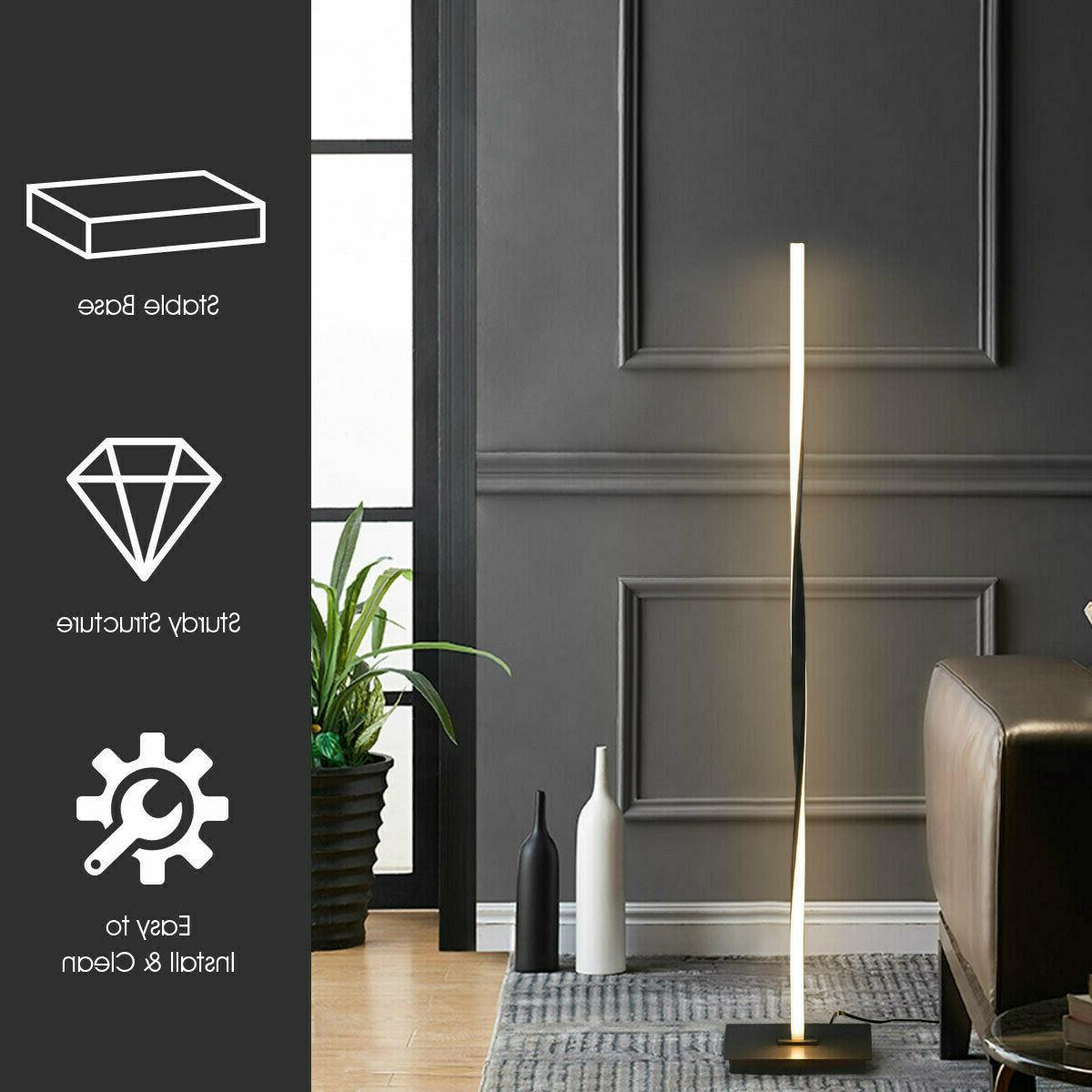 """48""""Helix LED Lamp Standing Pole W/Built-In Light Home"""