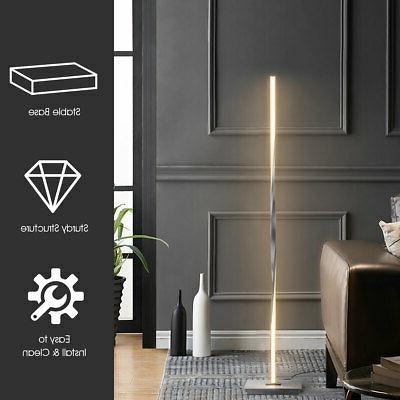 """48""""Helix LED Floor Standing w/Built-in Light Strip Silver"""