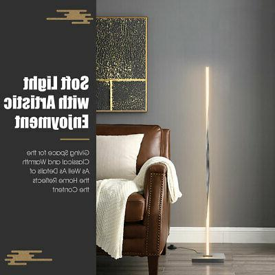 """48""""Helix LED Lamp Standing Pole w/Built-in Light Silver"""