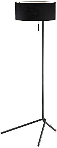 "Adesso 6191-01 Twixt 59"" Floor Lamp, Black, Smart Outlet Com"