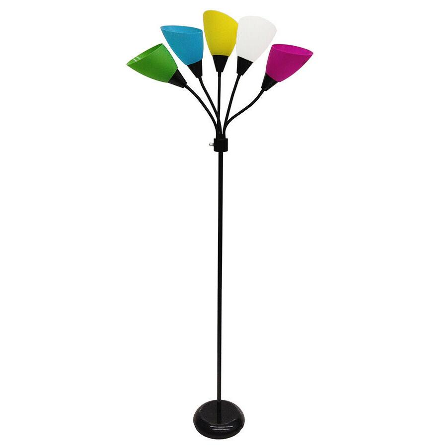 floor lamp stand w 5 multi color