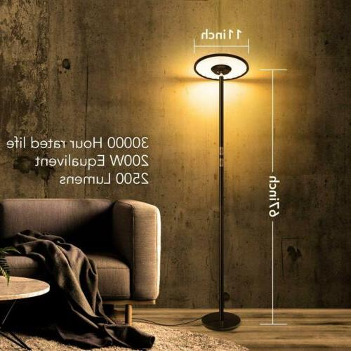 67''Torchiere Dimmable LED Lamp Standing Lamp 24W2500LM