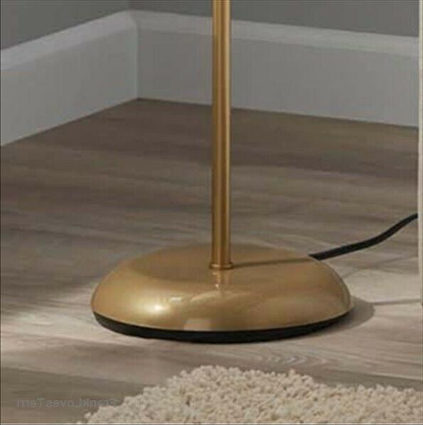 """71"""" Floor Lamp with Shade Durable Rotary Black Gold Silver"""