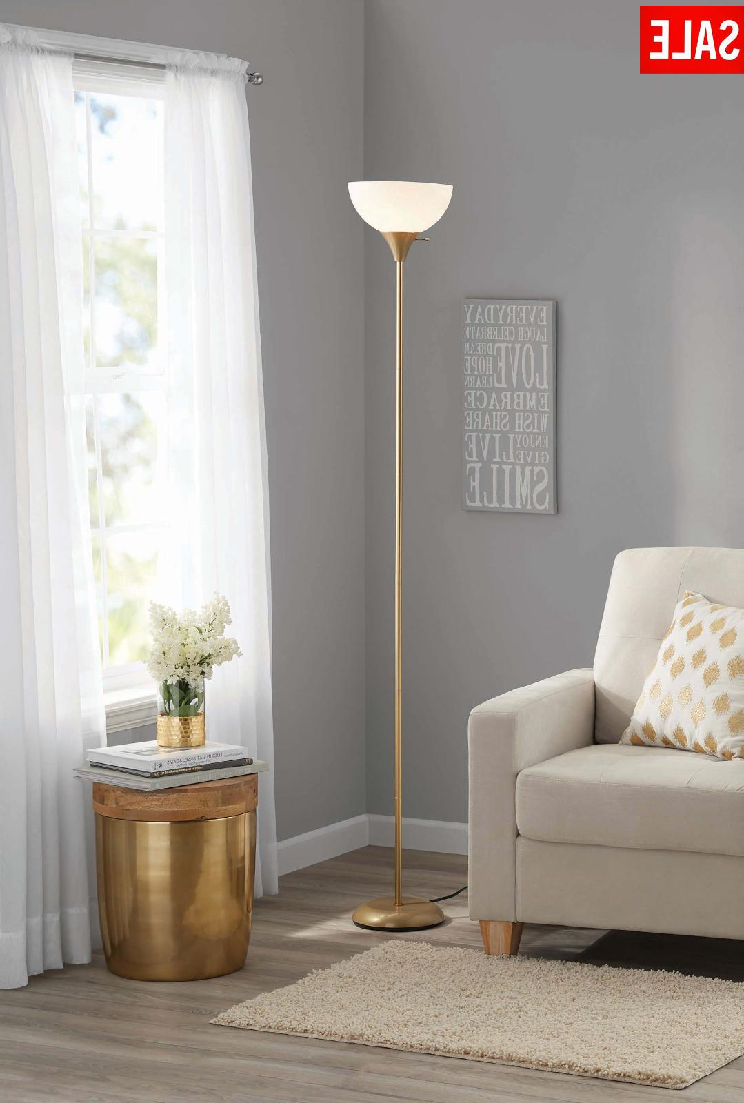 "71"" inch Modern Floor Lamp Standing Decorative White Shade G"