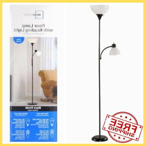 72 metal floor lamp with reading light