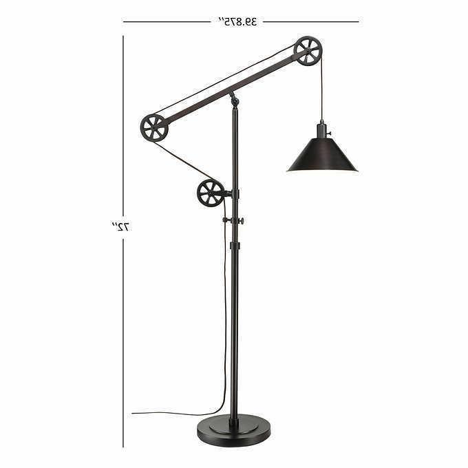 "72"" Floor Bronze LED Bulb Adjustable Steel"
