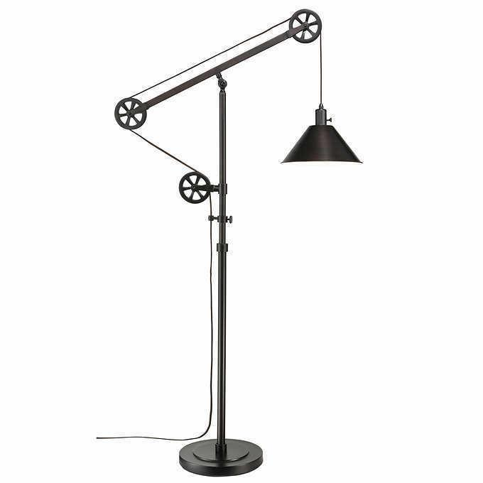 72 pulley floor lamp bronze finish