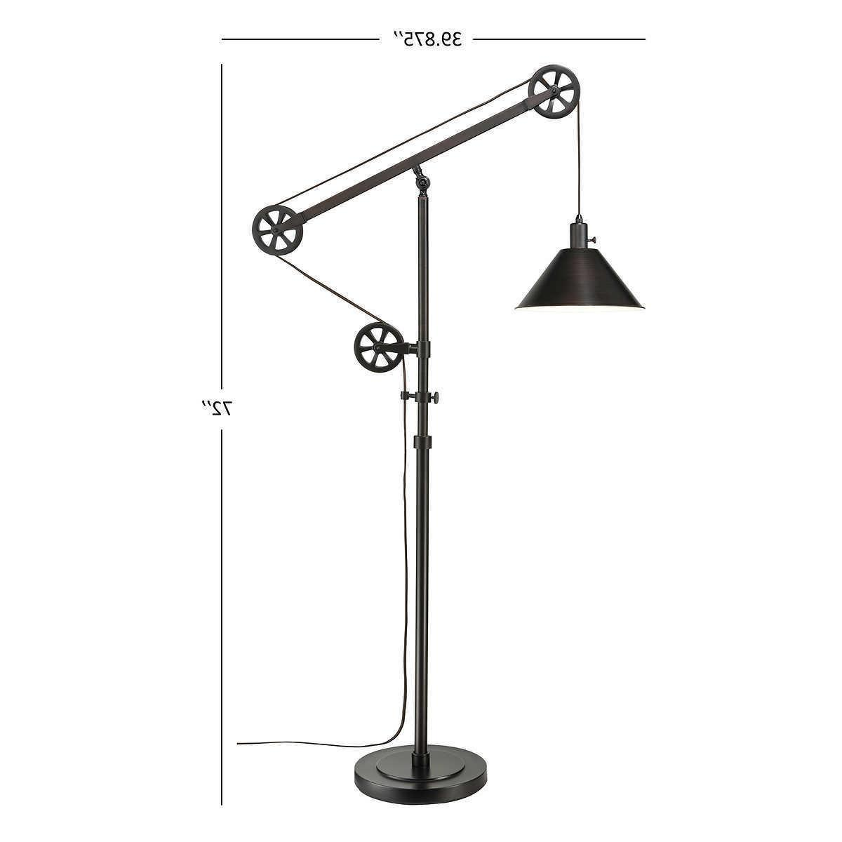 """72"""" Tall Pulley Lamp Fully Bronze"""