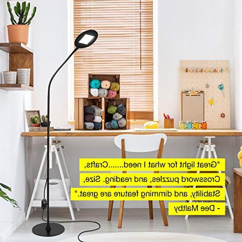 Brightech Contour Flex Floor Lamp Crafts Office Tasks – Gooseneck Bright, Beside Living Contemporary Pole Light - Black