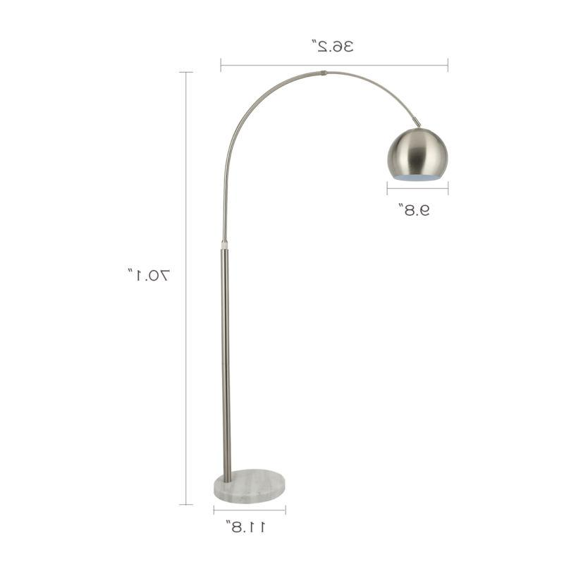 Arc Lamp Adjustable Arm with Marble Listed