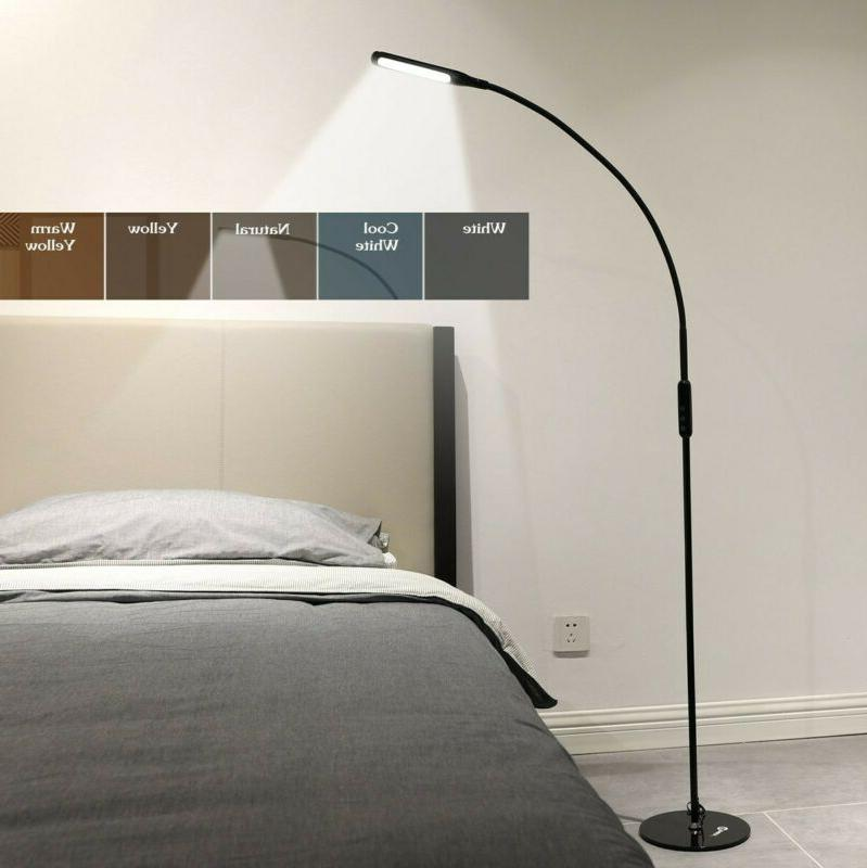 Modern LED Floor Lamp Reading Light Dimmable Remote Control