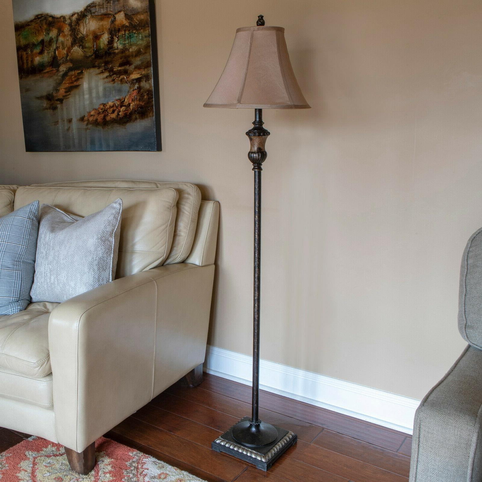 """Alice Lamp Bronze, Traditional, Shade, 60""""H, 96""""Cord, 3Way"""