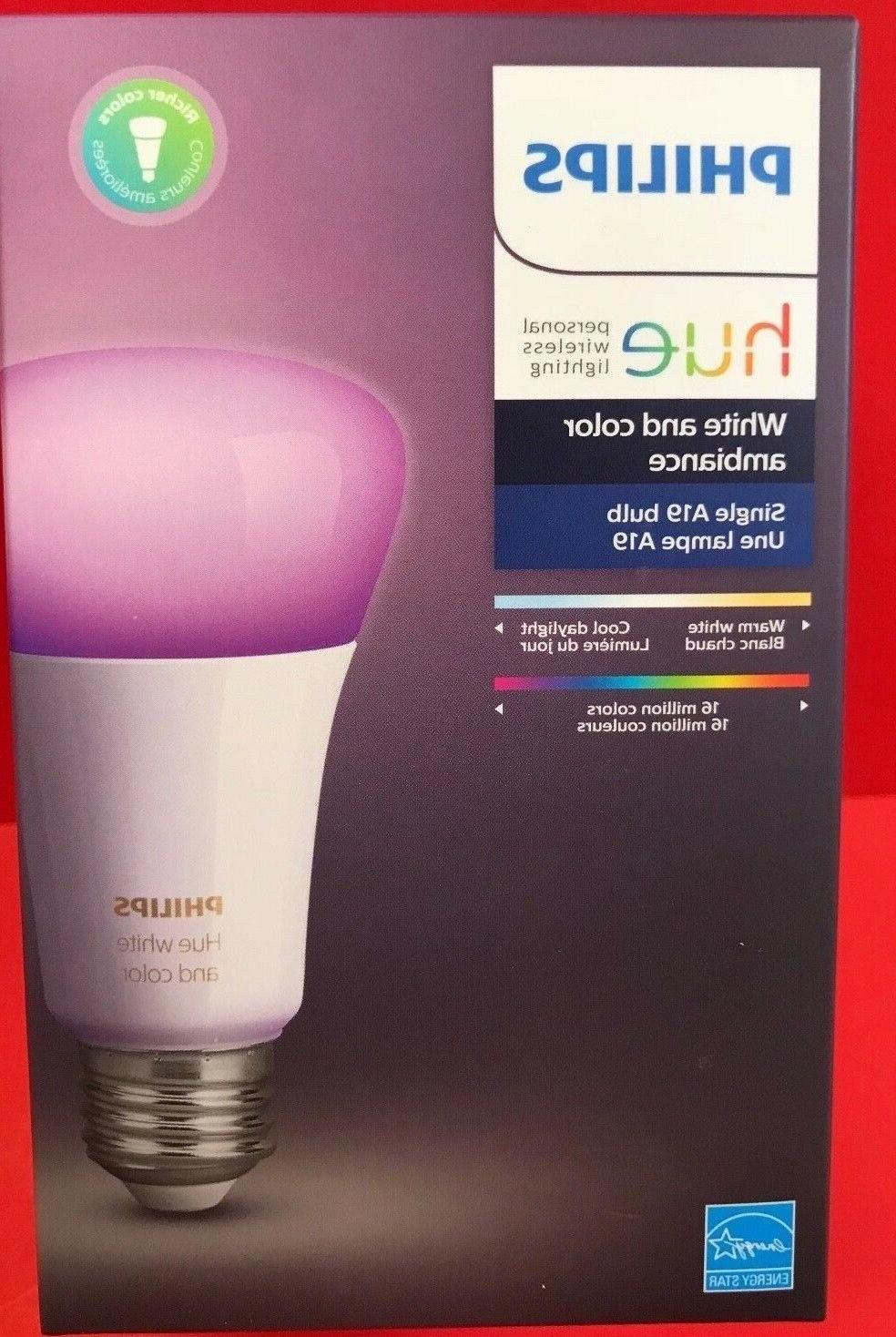 Philips - Hue White And Color Ambiance A19 Add-on Smart Led