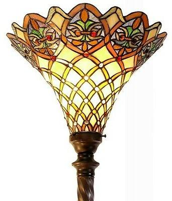 72 antique style arielle torchiere lamp glass