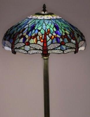 antique style dragonfly lamp lamps floor lighting