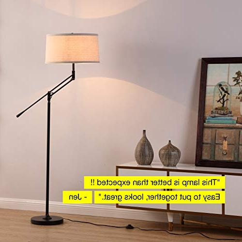 Brightech Lamp for - Standing with - Office and Bedroom, Bright Reading Shade