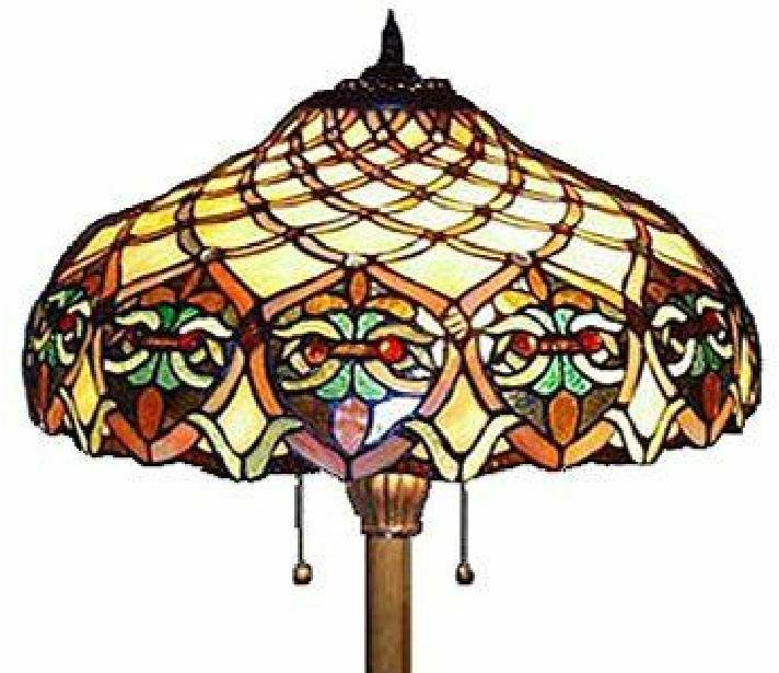 Baroque Tiffany Lamp Handcrafted Bell Shade