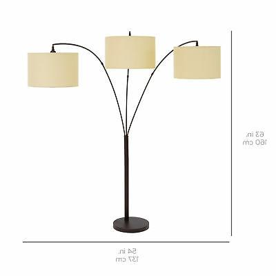 BCP 70in 3-Light Floor Lamp Dimming - Bronze