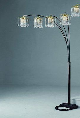 "Black Rain Drop Arc Floor Lamp 91""H by Crown Mark"