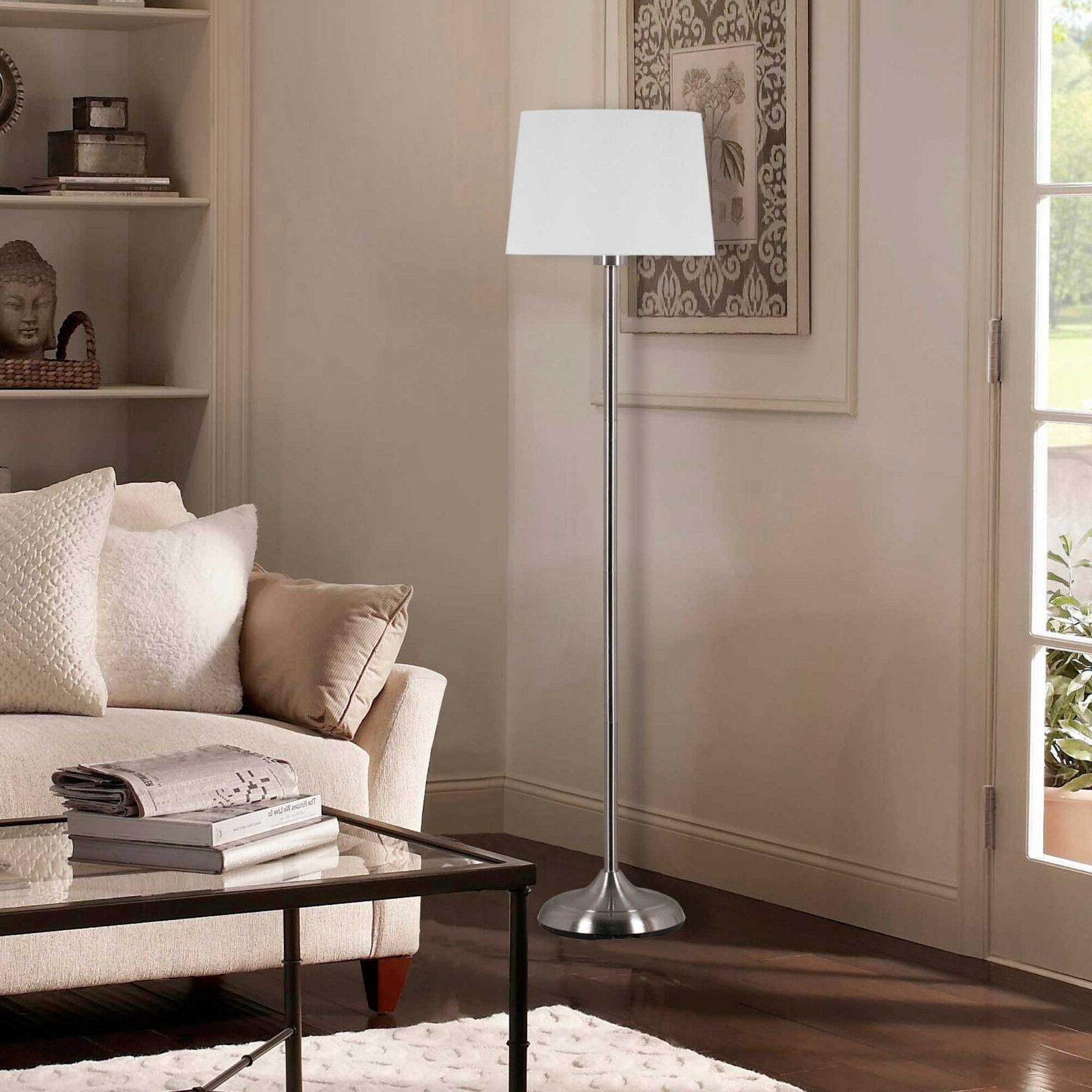 Adesso Floor Lamp - Linen - NEW FreeShip
