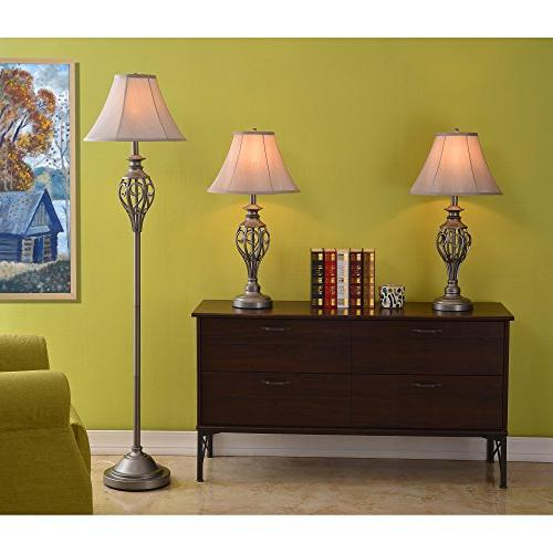 Cerise and Lamps in Silver - 3 Pack