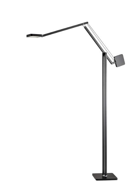 Cooper Tall Adjustable LED  Floor Lamp By Adesso   Black