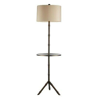 Dimond D1403D Stanton Floor Lamp, Dunbrook with Glass Tray