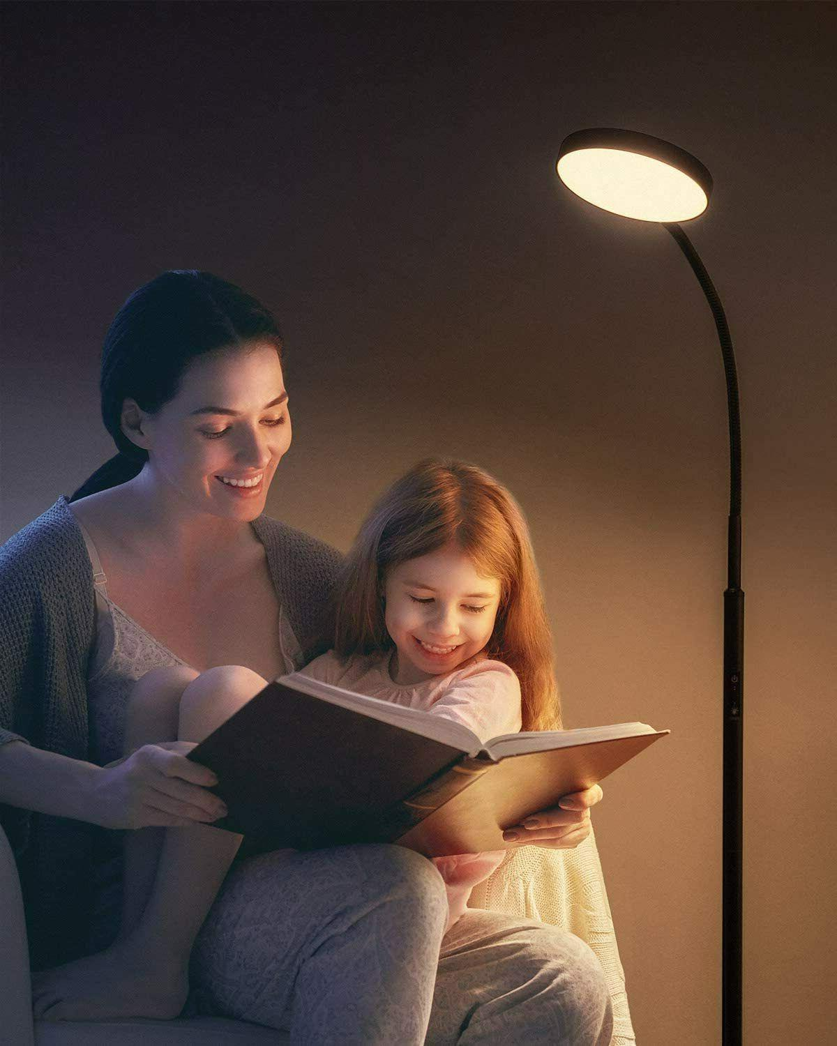Dimmable Floor Lamp with Stepless Dimming
