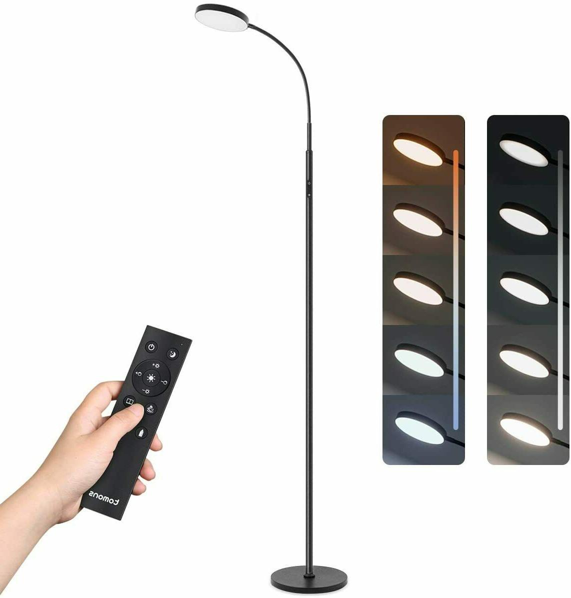 dimmable led floor lamp with stepless dimming