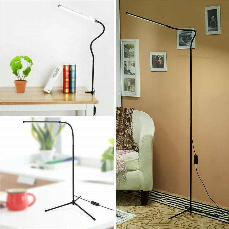 Dimmable LED Floor Lamp Tripod Stand Table Reading Light Adj