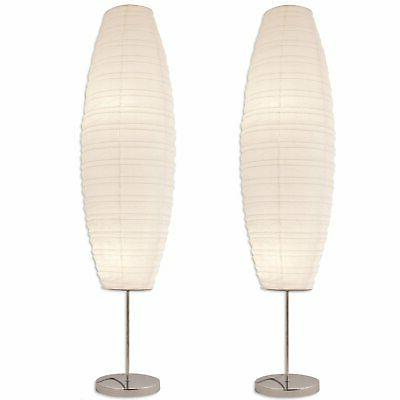Diploma Floor Lamp with Paper Shade