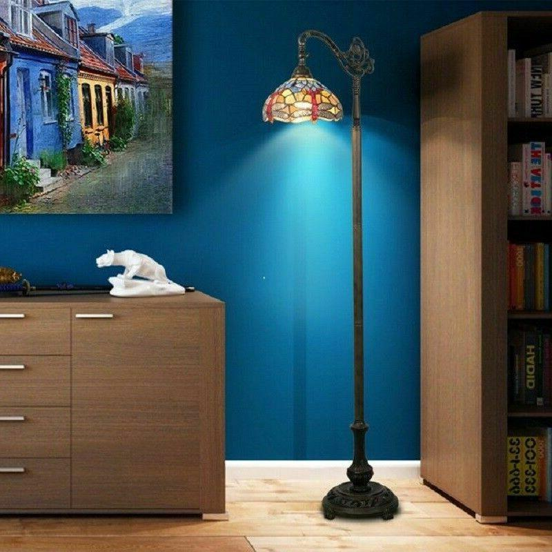 Dragonfly Floor Lamp Tiffany Style Bridge Reading Bedside St