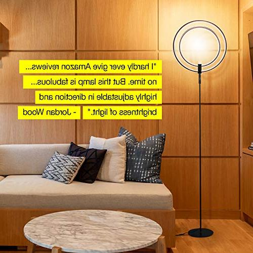 Brightech Eclipse LED Lamp - Super & Dimmable For Living Or Office - Tall - Ring