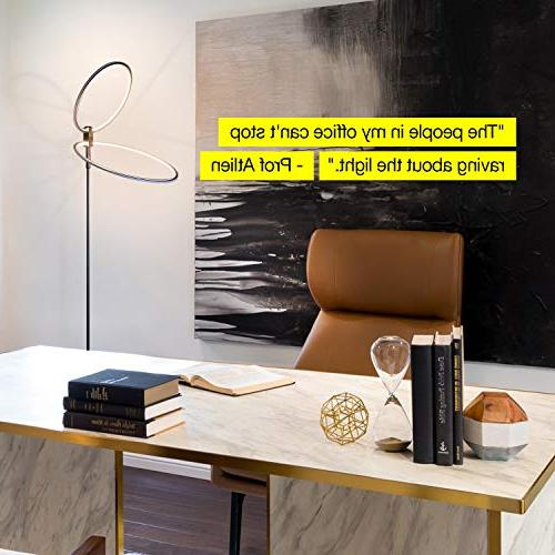 Brightech Eclipse Lamp Bright & Modern Light For Tall Pole Lamps - Look, Ring Black