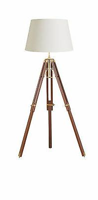 Endon Tripod base only floor lamp 60W Sheesham wood & solid