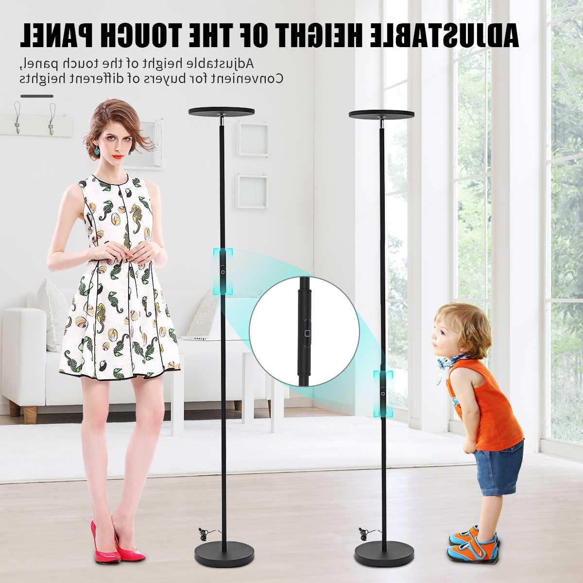 European Adjustable LED <font><b>Floor</b></font> <font><b>Lamps</b></font> Lights Remote Control Modern Living Room