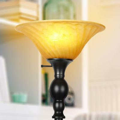 Evelyn LED Free Standing Tall Pole Torchiere Light - Modern